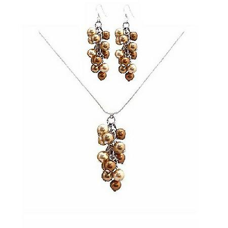 Unbeaten Prices For Wedding Jewelry Gold & Copper Pearls Jewelry
