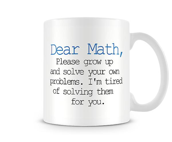 Decorative Writing Dear Math Printed Text Mug