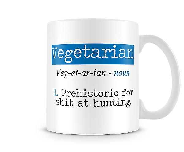 Decorative Writing Vegetarian Printed Mug