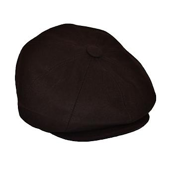 G&H Brown Wool Newsboy Cap 59cm