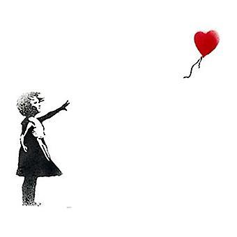 Banksy Girl & Balloon fridge magnet (se)
