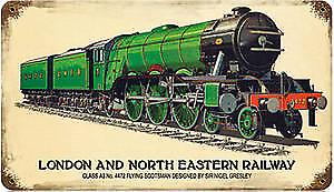 LNER Flying Scotsman rusted metal sign   (pst 148)
