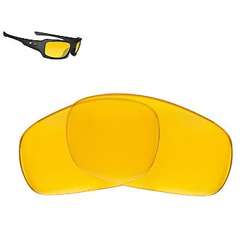 FIVES SQUARED Replacement Lenses Polarized Hi Yellow by SEEK fits OAKLEY