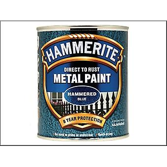Hammerite Direct to Rust Hammered Finish Metal Paint Blue 750ml