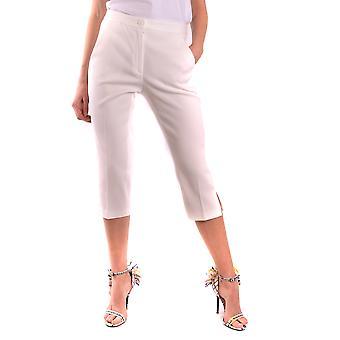 Pantalones de algodón blanco de Moschino