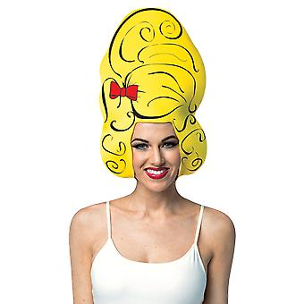 Womens Beehive Hair Wig Headpiece Novelty Fancy Dress Costume Accessory