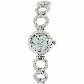 Boxx damer runt länken silverarmband Strap Dress Watch F40057