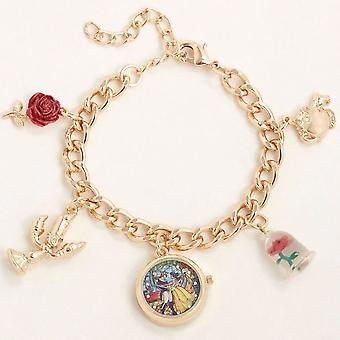 Beauty and the Beast Watch Charm Bracelet