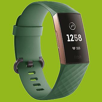 Für Fitbit Charge 3 Kunststoff / Silikon Armband für Männer / Größe L Navy-Grün Uhr