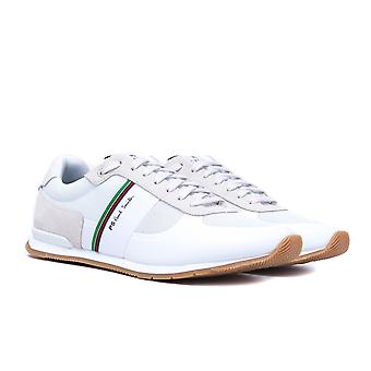 PS Paul Smith Ericson Suede & mesh off witte trainers