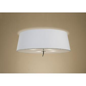Ninette Ceiling 4 Light E27, Antique Brass With Ivory White Shade