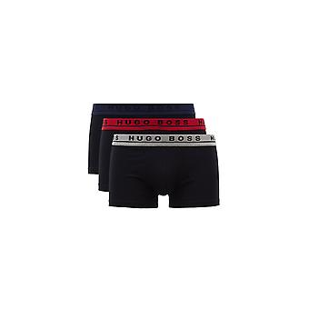 BOSS Footwear & Accessories Hugo Boss Black 3 Pack Boxers Grey Red Navy