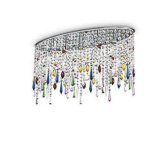 5 lumière grand plafond Flush Light chrome