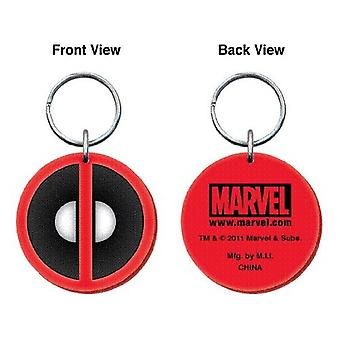 PVC Key Chain - Marvel - Dead Pool Logo Soft Touch Gifts Toys New 67476