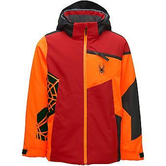 スパイダーチャレンジャーボーイズリプレヴプリマロフトスキージャケットレッド