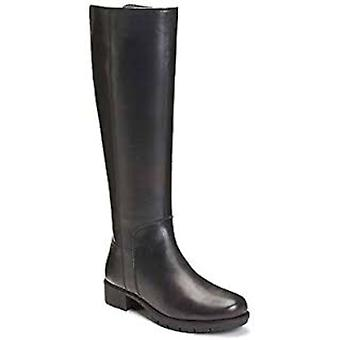 Aerosoles Just 4 You Riding Boots Black Leather 6M