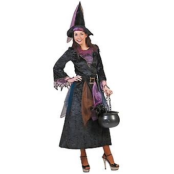Witch Sorceress Midnight Girl Women's Costume Halloween Carnival Witch Costume Ladies