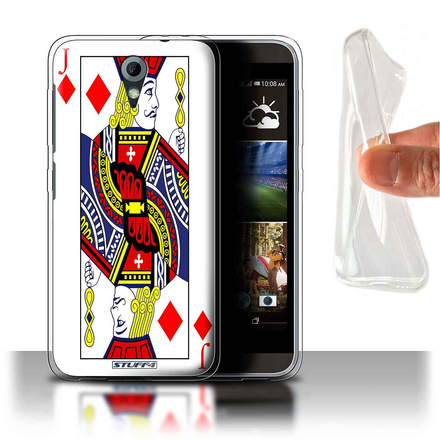 STUFF4 Gel/TPU Case/Cover for HTC Desire 820 Mini/Jack of Diamonds/Playing Cards