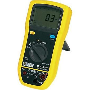 Handheld multimeter digital Chauvin Arnoux C.A 5271 Calibrated to: Manufacturer standards Splashproof (IP54) CAT III 100
