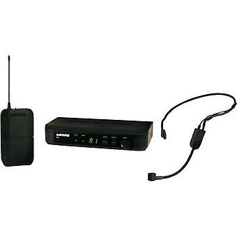 Wireless microphone set Shure BLX14E/P31 Transfer type:Radio incl. pop f