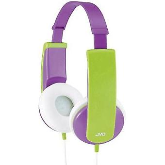 Children Headphone JVC HA-KD5-V-E On-ear Volume limiter, Light-weight headband Purple, Green