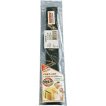 Hook-and-loop tape stick-on Mushroom hooks (L x W) 250 mm x 25 mm Black Fastech 921-330-Bag 1 pc(s)