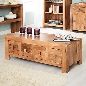 Phoenix Light Mango 8 Drawer Coffee Table