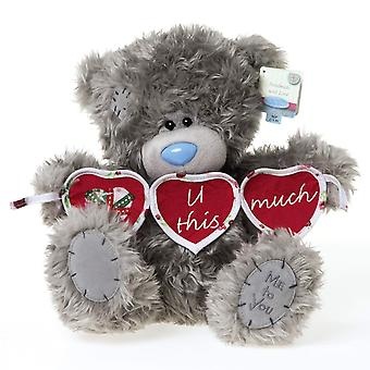 Me To You 10-inch Tatty Teddy Bear Holding Heart Bunting (Grey)