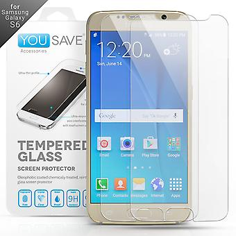 Yousave Accessories Samsung Galaxy S6 Glass Screen Protector Twin Pack