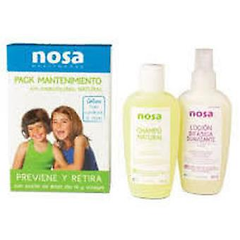Nosa Manten Pack Shampoo + Te + comb softened Tree