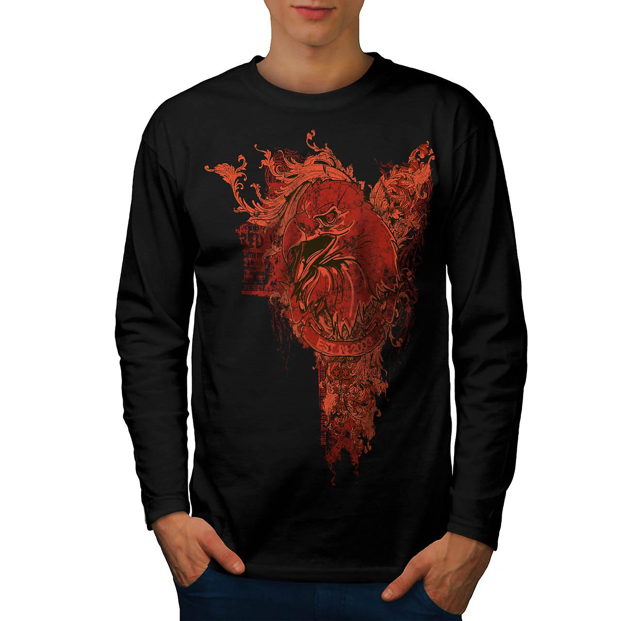 Evil Bird Prey Chill Eagle Death Men Black Long Sleeve T-shirt | Wellcoda