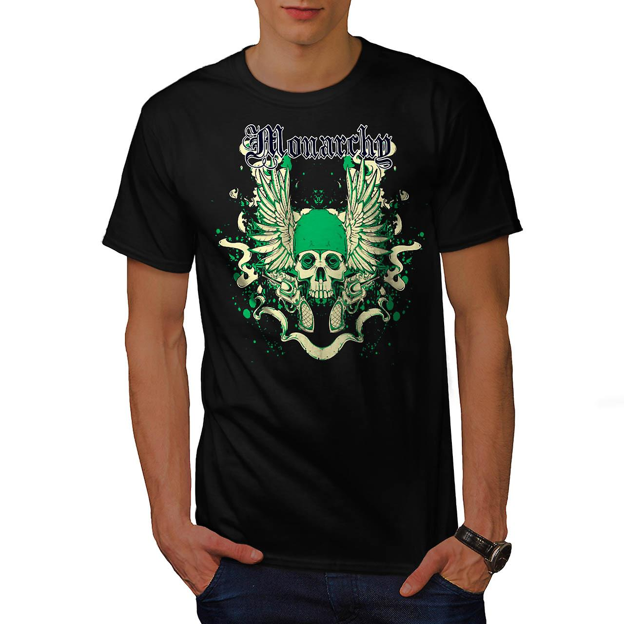 Monarchia fantasma righello Gang terra uomini t-shirt nero | Wellcoda