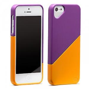 OLO Duet snap on case cover wallet iPhone 5 / 5S purple & Orange
