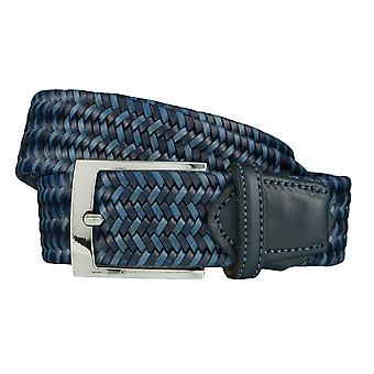 OTTO KERN belts men's belts leather belt woven belt Navy/Blue 4508