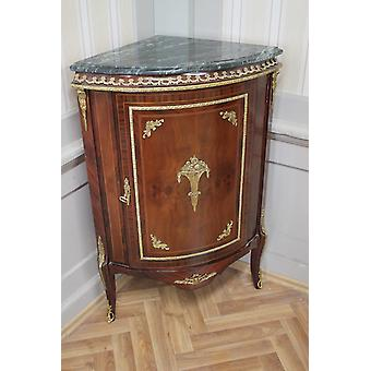 Baroque COMMODE Cabinet LouisXV antique style marble green MkKm0108Gn