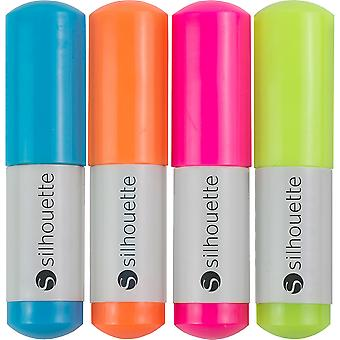 Silhouette Sketch Pens 4/Pkg-Neon: Pink, Green, Orange, Blue SILHPEN-NEO