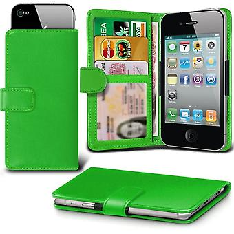 iTronixs - Blackview BV2000 (5 inch) Case Clamp Style Wallet Protective PU Leather Case Cover - Green