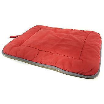Dog Gone Smart Suede Crate Mat Red 58x91cm