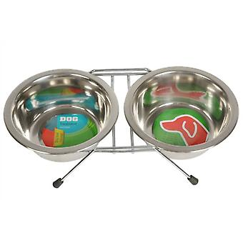 Food and Drink Duo Dog Bowl