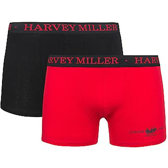 2 Pack Harvey Miller Polo Club shorts men's Boxer shorts multicolor HRM4212