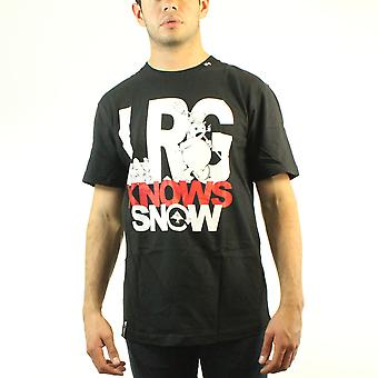Lifted Research Group Snowman LRG Knows Your Snow Men's Black T-shirt