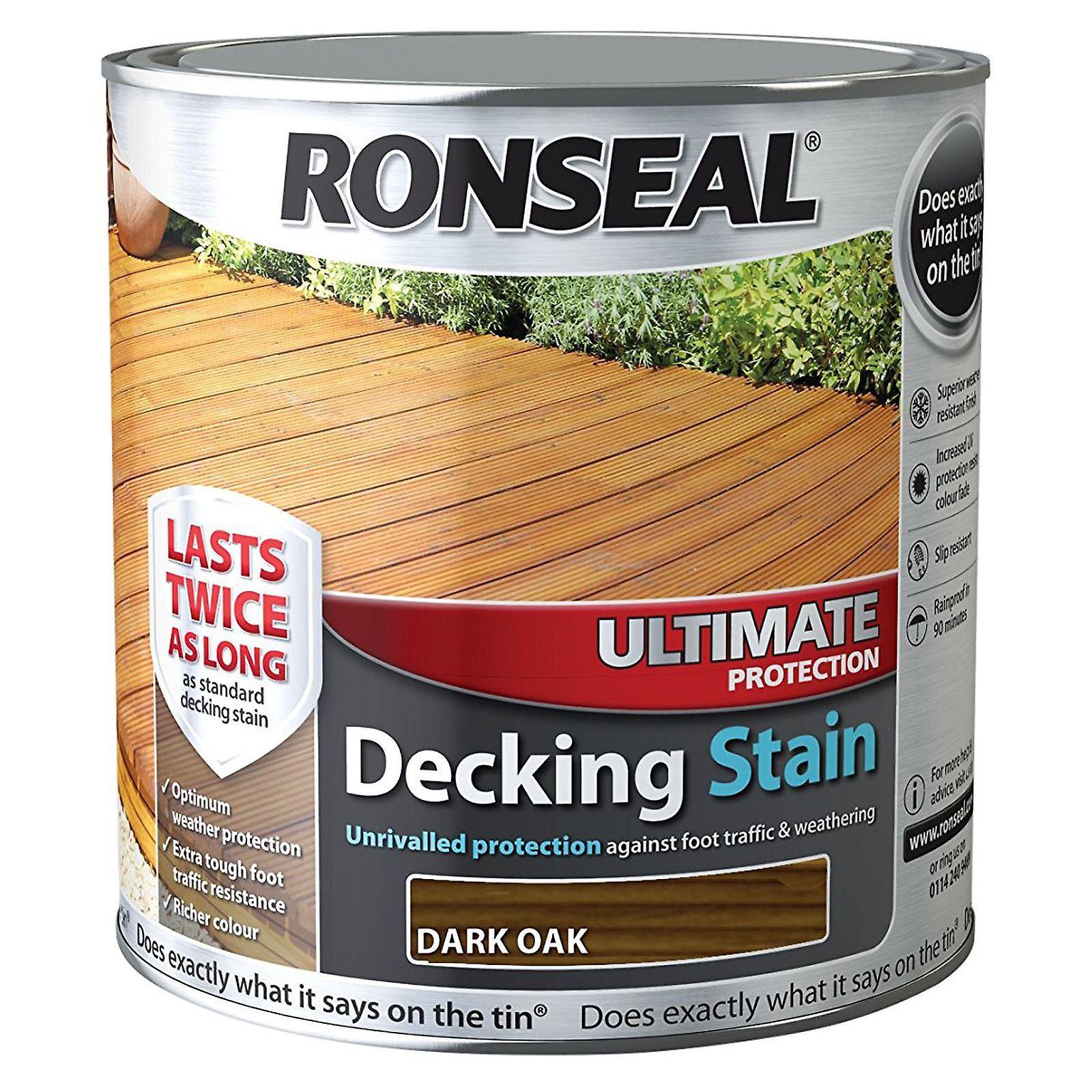 Ronseal 2,5 litri massima protezione Decking macchia - rovere moro