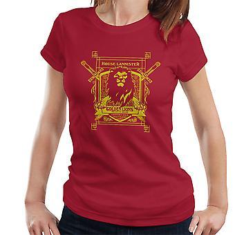 Game Of Thrones hus Lannister gyldne løver høre os brøl dame T-Shirt