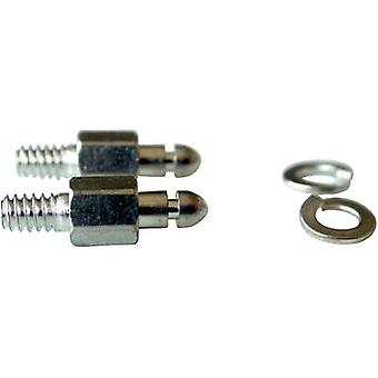 Mounting bolt Provertha 104TA002 Silver 2 pc(s)