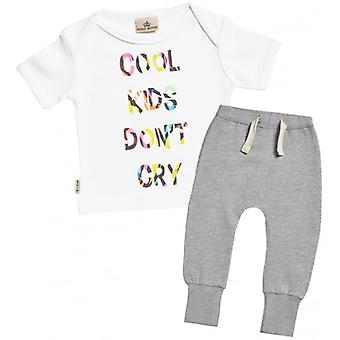 Verwöhnte faulen Cool Kid Don't Cry Baby T-Shirt & Jogger Outfit Set