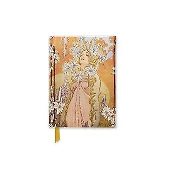 Alphonse Mucha The Flowers Lily Foiled Pocket Journal by Flame Tree