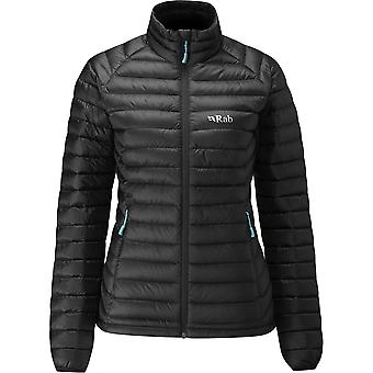 Rab Womens Microlight Jacket Black/Seaglass (Size UK 12)