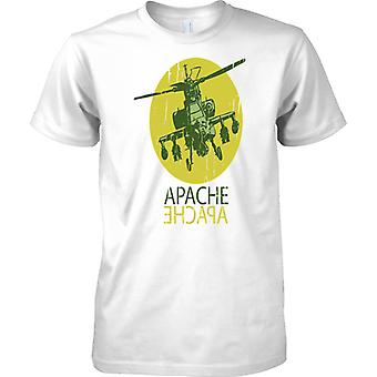 Apache Attack Helicopter AH-64 Gunship - Kids T Shirt