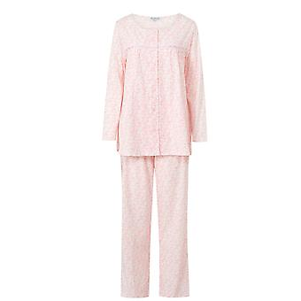 Slenderella Pink Round Neck Long Sleeve Cotton Pyjama Set PJ6104
