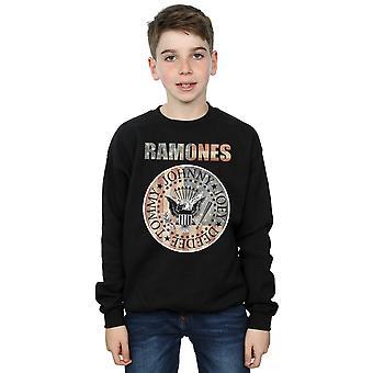 Ramones drenge Flag Seal Sweatshirt